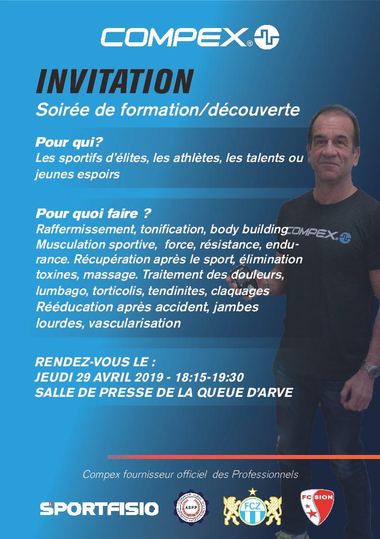 """Reminder: Atelier """"Compex"""": lundi 29 avril à 18:15!"""